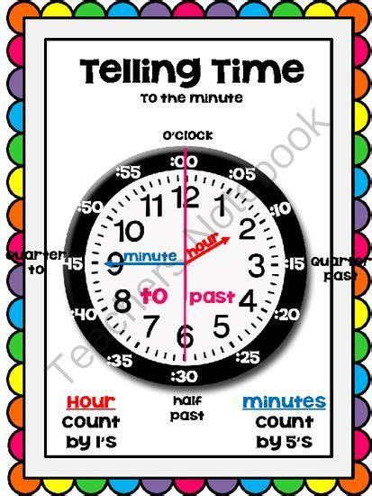 printable student clock telling time poster from mrs davidson s resources on