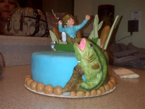 man in fishing boat cake topper fishing cakes decoration ideas little birthday cakes