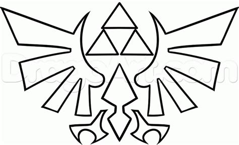 zelda triforce coloring page how to draw the triforce step by step video game