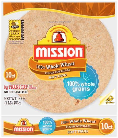 whole grain 100 calorie wrap mission whole wheat tortilla nutrition facts