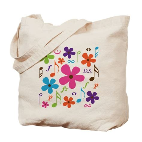 Lelyas Retro Funk Tote by Funky Flower Tote Bag By Milestonesmusic