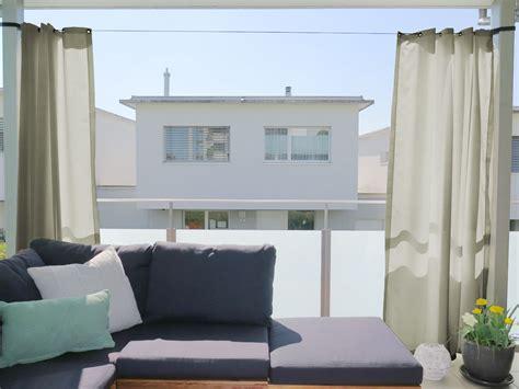vorhang balkon outdoor vorhang santorini nach mass beige hellgrau