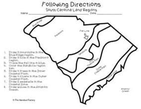 carolina lands map south carolina s land regions following directions