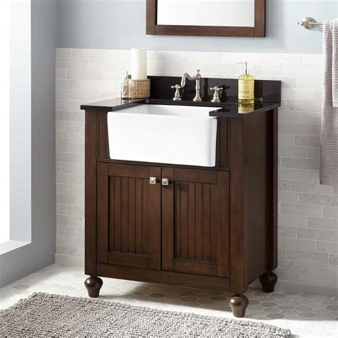 Sink For Bathroom Vanity 30 Quot Nellie Farmhouse Sink Vanity Antique Coffee Bathroom