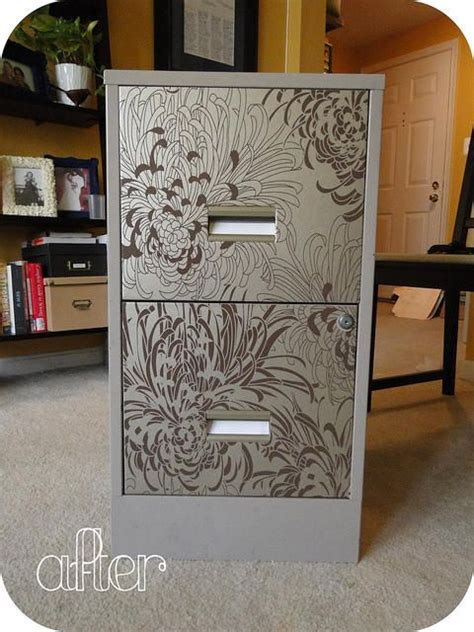 how to dress up a metal file cabinet 18 best images about filing cabinet project on