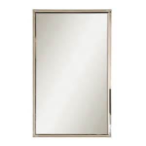 frames for bathroom mirrors lowes shop global direct 18 in x 30 in polished stainless steel