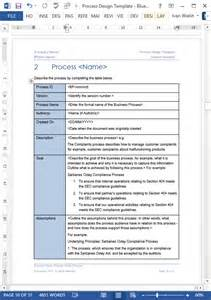 Template For Business Process Documentation business process design templates ms word excel visio
