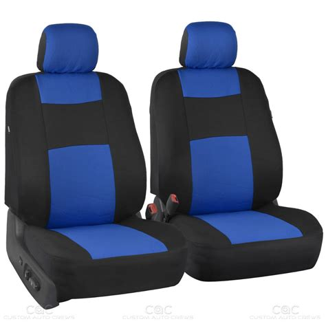 split bench seat blue car seat covers set split bench option 5 headrests w