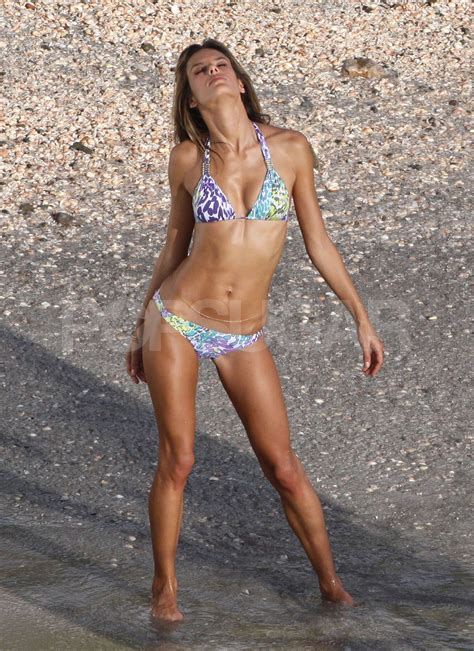 celebrity c section alessandra ambrosio models a purple bikini for victoria s
