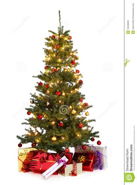 decorated christmas tree royalty  stock images image