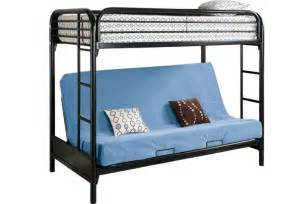 Bunk Bed With Futon Safe Metal Futon Bunked Outback Black Futon Bunk Bed The Futon Shop