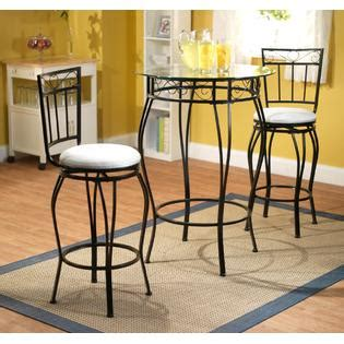 3pc gabriella pub table set home furniture dining