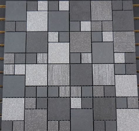 pattern block tiles ptm2032 porcelain mosaic grey versailles 1 2 block