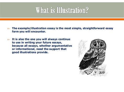 What Is A Illustration Essay by Illustrative Essays