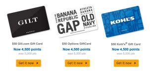 Citi Thankyou Points Gift Cards - citi thankyou points 10 bonus redemption kohl s gap gilt gift cards