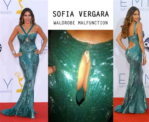 wardrobe malfunction sofia vergara suffered an sofia vergara suffers waldrobe malfunction at emmy awards