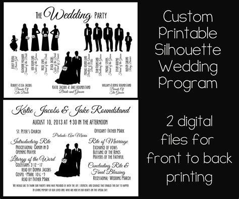 Best Photos Of Silhouette Wedding Programs Template Silhouette Wedding Program Templates Free Wedding Silhouette Template