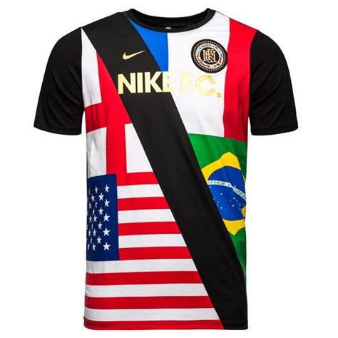Tshirt Nike F C Black nike f c t shirt aop black white www unisportstore