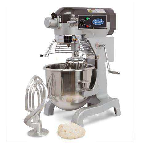 Mixer General shop general commercial 20 quart 3 speed stainless steel