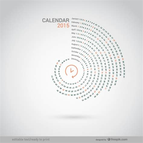 calendar design 2015 vector free download round 2015 calendar vector free download