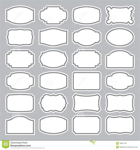 15 Blank Label Vector Images Free Printable Blank Labels Blank Vintage Label Vector And Blank Photography Label Templates
