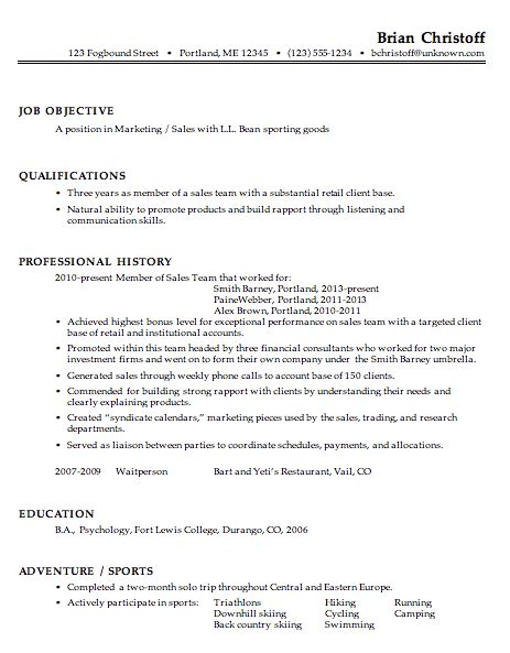 resume templates sle of chronological resume for a marketing sales professional susan ireland resumes