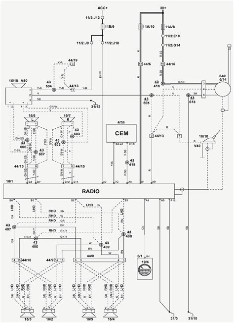2006 volvo xc90 electrical wiring diagram schematic