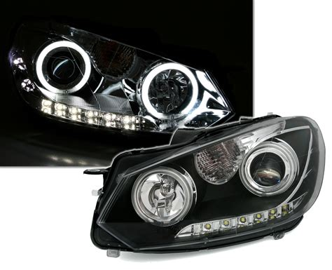 beleuchtung golf 6 ccfl scheinwerfer mit tfl f 252 r vw golf 6 ad tuning