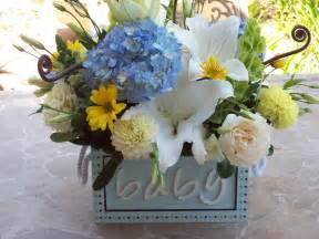 baby shower flowers on baby shower