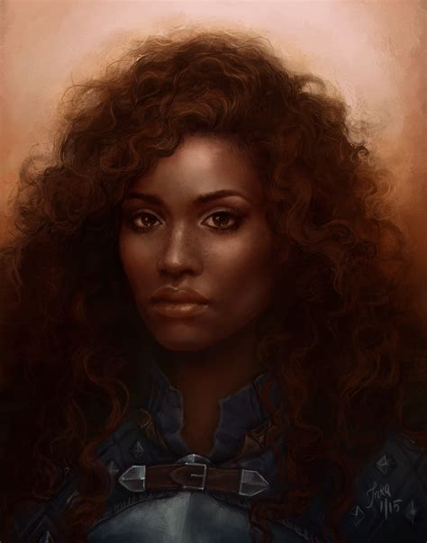 black woman paintings portraits eilin cousland by skin dancer on deviantart
