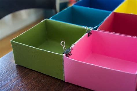 How To Make Paper Drawers - make a diy drawer organizer from scrapbook paper hometalk