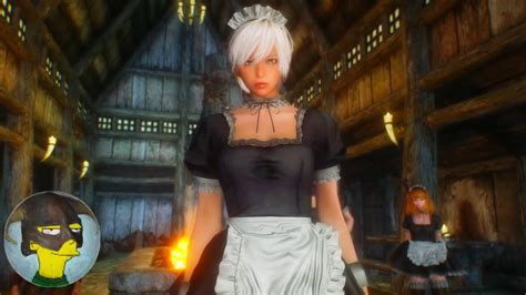 cbbe hdt outfits full hdt maid outfit with cleavage cbbe skyrimᴴᴰ enb