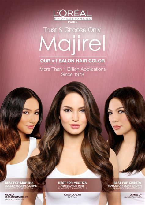 l oreal hair colours majirel l oreal majirel absolut permanent hair colour 9 21 light l or 233 al professionnel majirel unveils its endorsers lahbati mikaela martinez