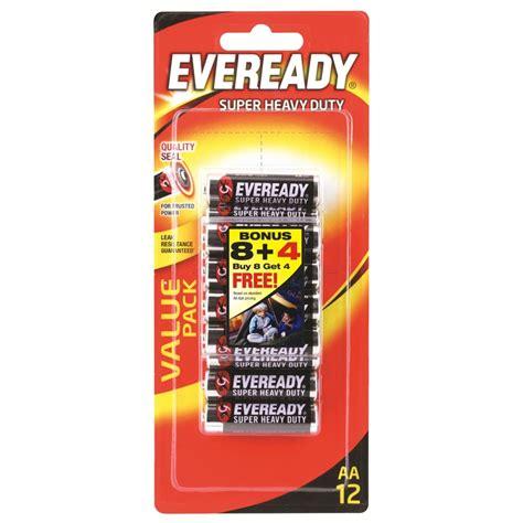 Eveready Heavy Duty Baterai Aa Isi 4 eveready heavy duty aa 8 4 batteries bunnings warehouse
