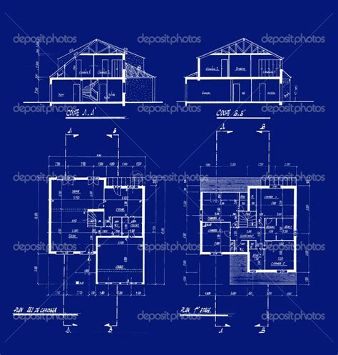 house building blueprints modern house