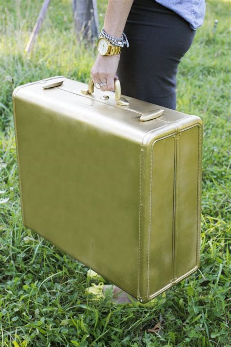 spray painting luggage spray paint a suitcase in two easy steps hgtv s