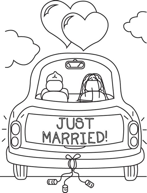 just married coloring book page by cheekydesignz on deviantart