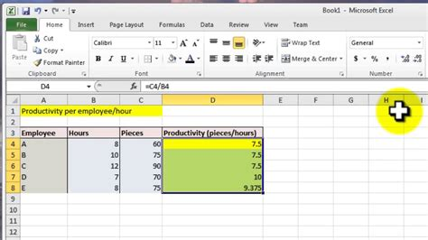 productivity tracker excel template excel 2010 tutorial for intermediates calculation