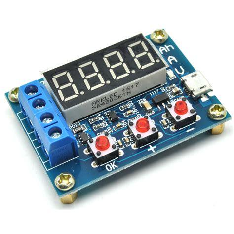 zhiyu battery capacity meter discharge tester 1 5v 12v for 18650 li ion zb2l3 blue