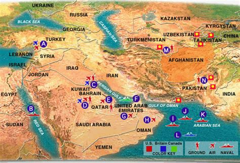 middle east map us bases augustachronicle the augusta chronicle