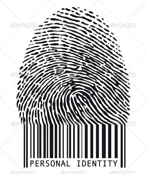 the barcode tattoo resolution fingerprint with barcode graphicriver