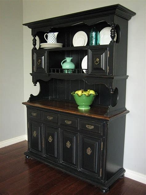 hutch black and stained dining room ideas pinterest