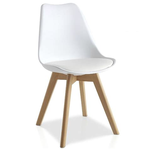 Tulip Dining Chairs Mmilo Tulip Pyramid Dining Chair Office Chair With Solid Wood Legs Plastic Seat Pu Padded