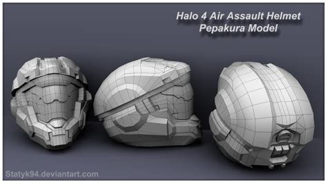 Halo Helmet Papercraft - pepakura halo reach cake ideas and designs