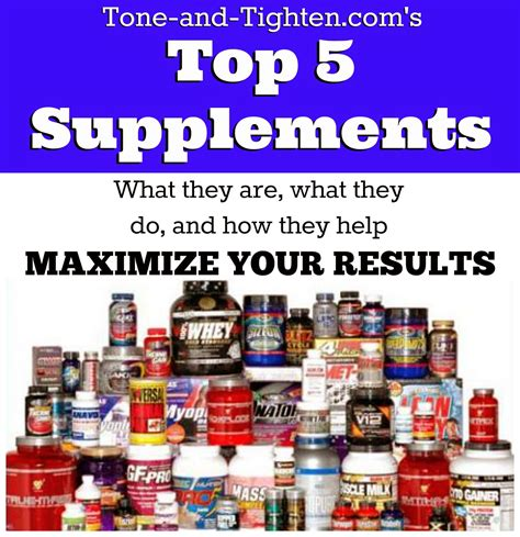 best supplements supplements 101 what are the best supplements for exercising working out tone