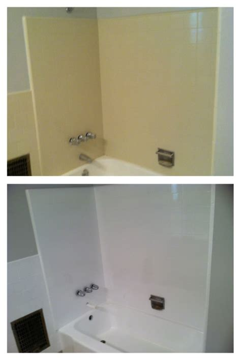 bathtubs with tile walls refinished project gallery porcelain fiberglass