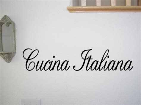 quot la cucina italiana quot vinyl lettering home decor wall decal italian kitchen wall decals quotes house furniture