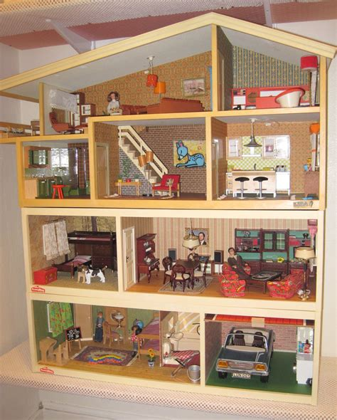 70s dollhouse vintage lundby update houses in their new home