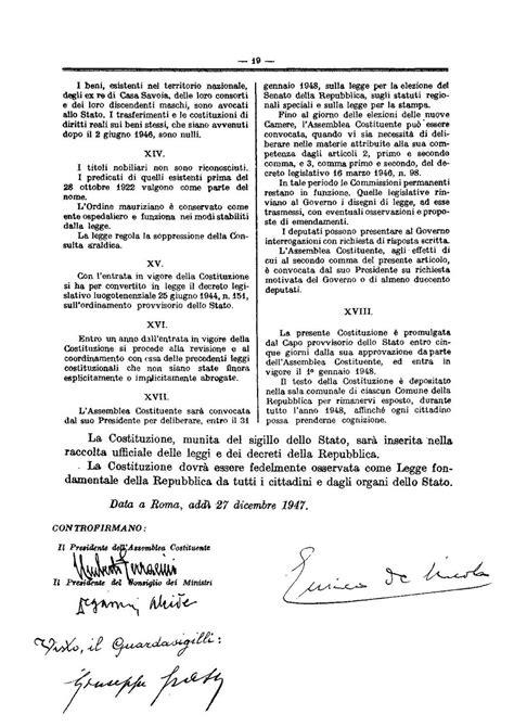 costituzione italiana testo pagina italia repubblica costituzione testo originale