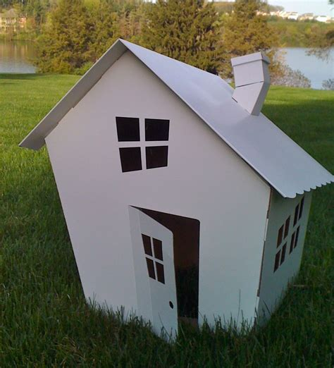 Extraordinary Picture Of Cardboard White Cottage Cool Kid Cardboard Cottage Playhouse